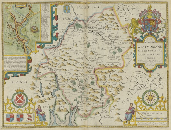The Theatre of the Empire of Great-Britain - The Countie Westmorland (1676)