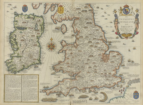 The Theatre of the Empire of Great-Britain - The Invasions of England and Ireland (1676)