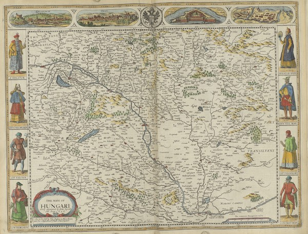 The Theatre of the Empire of Great-Britain - The Mape of Hungari (1676)