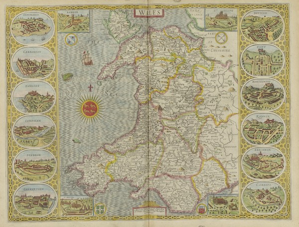 The Theatre of the Empire of Great-Britain - Wales (1676)