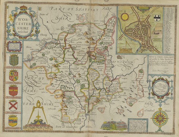 The Theatre of the Empire of Great-Britain - Worcestershire (1676)
