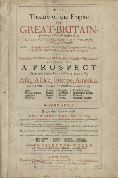 The Theatre of the Empire of Great-Britain - Title Page (1676)
