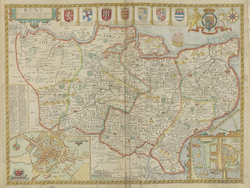 The Theatre of the Empire of Great-Britain - Kent (1676)