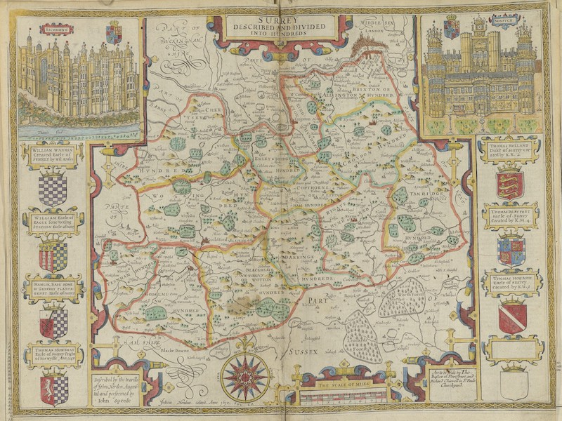The Theatre of the Empire of Great-Britain - Surrey (1676)