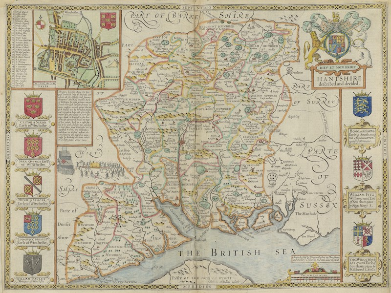 The Theatre of the Empire of Great-Britain - Hantshire (1676)