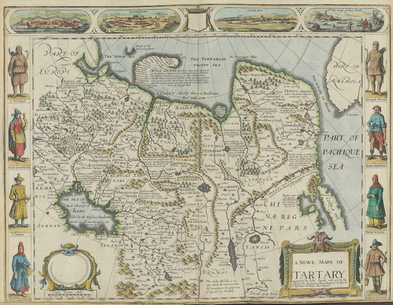 The Theatre of the Empire of Great-Britain - A Newe Mape of Tartary (1676)