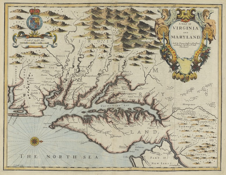 The Theatre of the Empire of Great-Britain - A Map of Virginia and Maryland (1676)