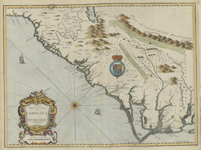 The Theatre of the Empire of Great-Britain - A New Description of Carolina (1676)