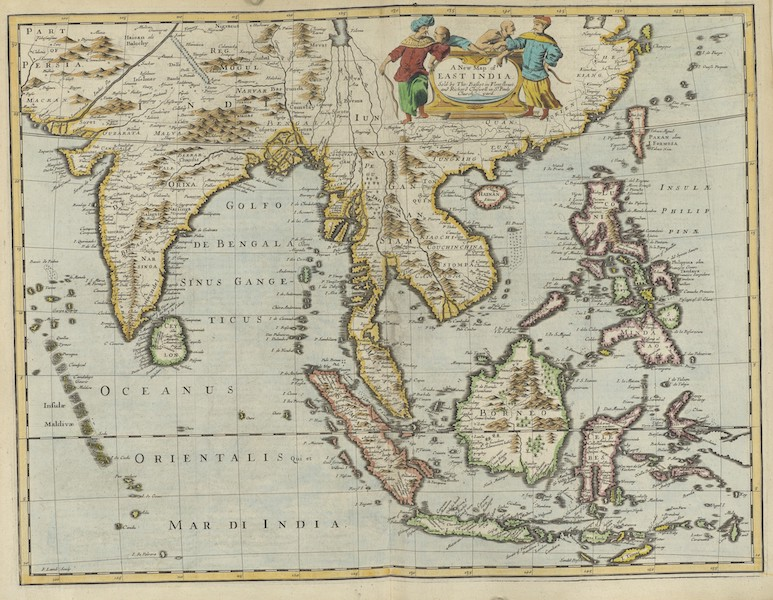 The Theatre of the Empire of Great-Britain - A New Map of East India (1676)