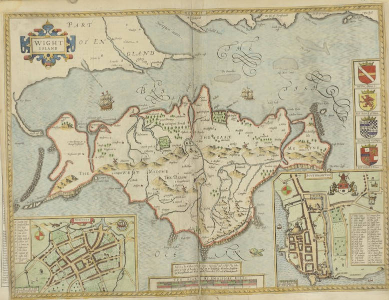The Theatre of the Empire of Great-Britain - Wight Island (1676)