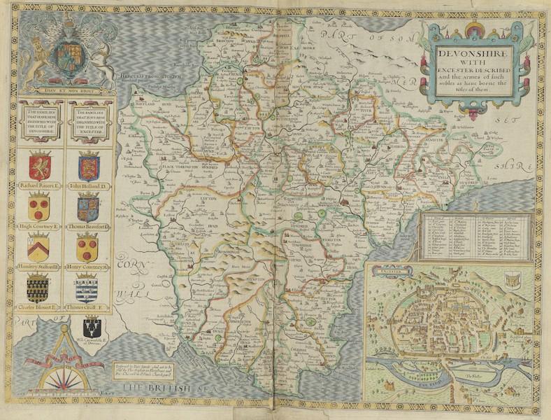 The Theatre of the Empire of Great-Britain - Devonshire (1676)