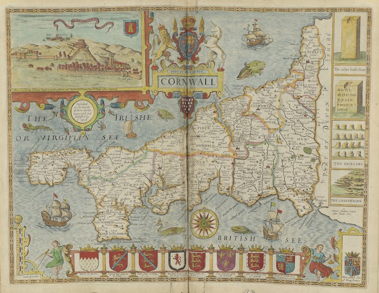 The Theatre of the Empire of Great-Britain - Cornwall (1676)
