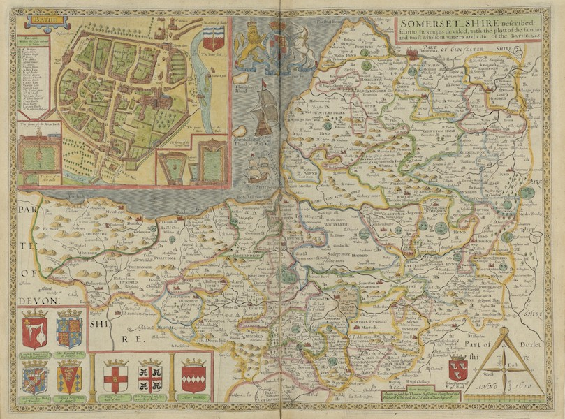 The Theatre of the Empire of Great-Britain - Somersetshire (1676)