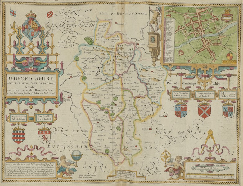 The Theatre of the Empire of Great-Britain - Bedfordshire (1676)