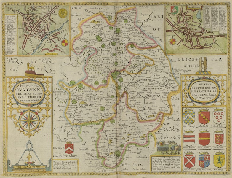 The Theatre of the Empire of Great-Britain - The Counti of Warwick (1676)