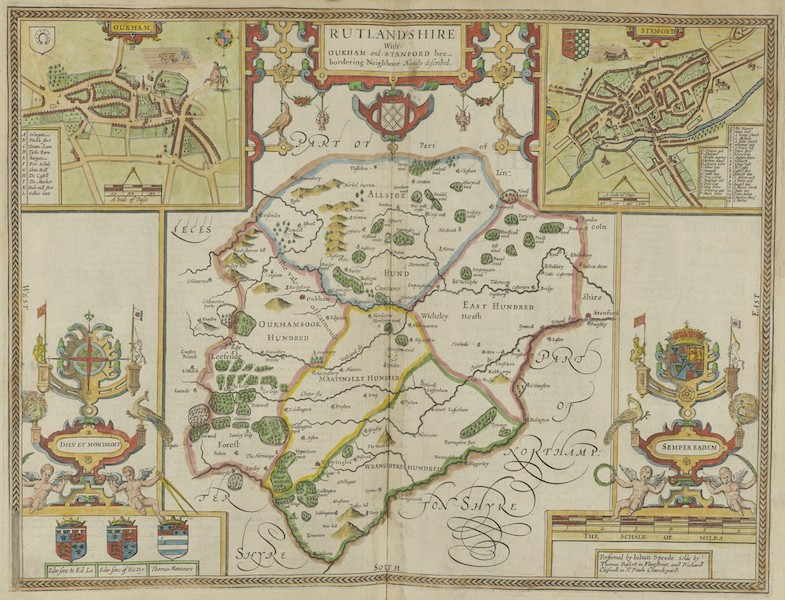 The Theatre of the Empire of Great-Britain - Rutlandshire (1676)
