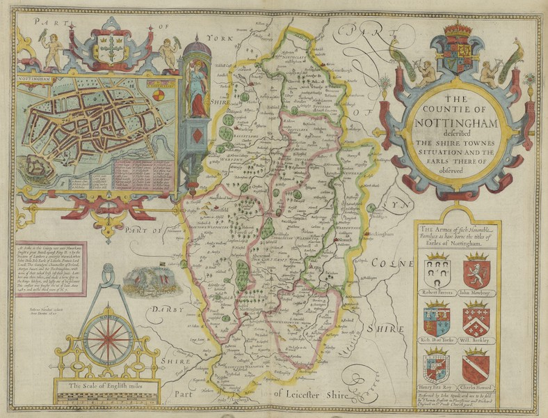 The Theatre of the Empire of Great-Britain - The Counti of Nottingham (1676)