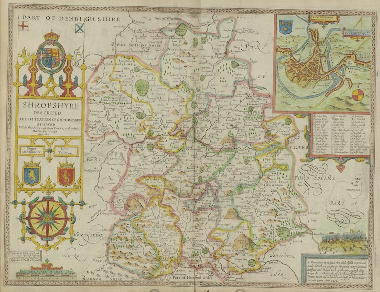The Theatre of the Empire of Great-Britain - Shropshyre (1676)