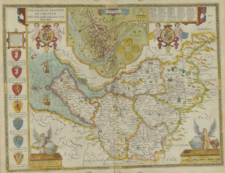 The Theatre of the Empire of Great-Britain - The Countye Palatine of Chester (1676)