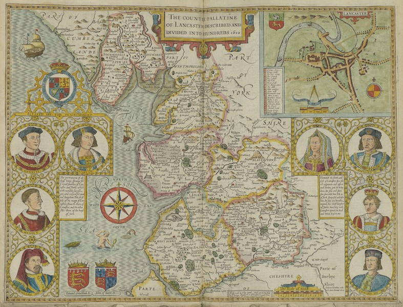 The Theatre of the Empire of Great-Britain - The Countie Pallatine of Lancaster (1676)