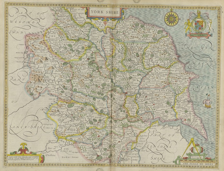 The Theatre of the Empire of Great-Britain - Yorkshire (1676)