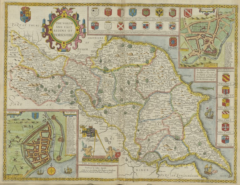 The Theatre of the Empire of Great-Britain - The North and East Ridins of Yorkshire (1676)