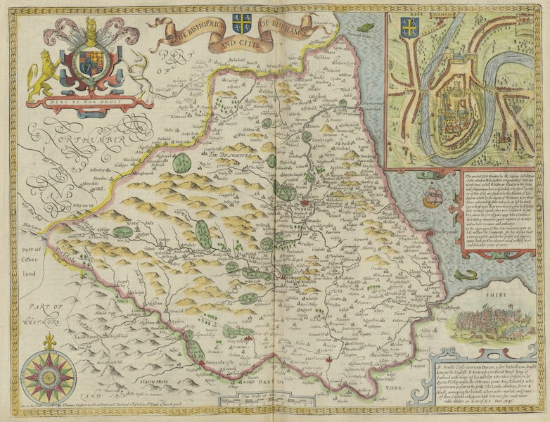 The Theatre of the Empire of Great-Britain - The Bishophrick and Citie of Durham (1676)