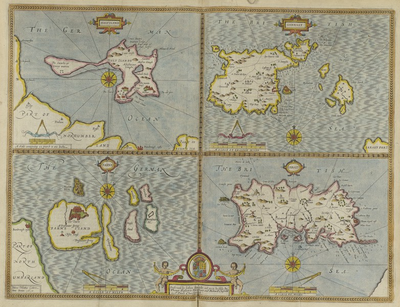The Theatre of the Empire of Great-Britain - Holy Iland, Garnsey, Farne and Iarsey [Copy II] (1676)