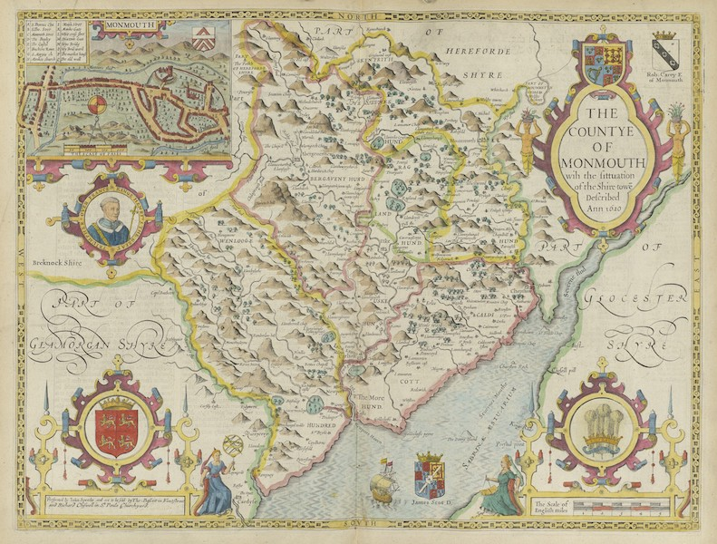 The Theatre of the Empire of Great-Britain - The Countye of Monmouth (1676)