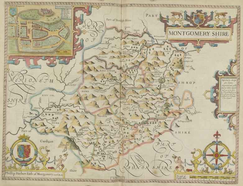 The Theatre of the Empire of Great-Britain - Montgomeryshire (1676)