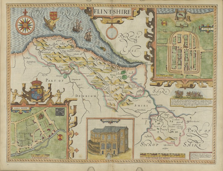 The Theatre of the Empire of Great-Britain - Flintshire (1676)