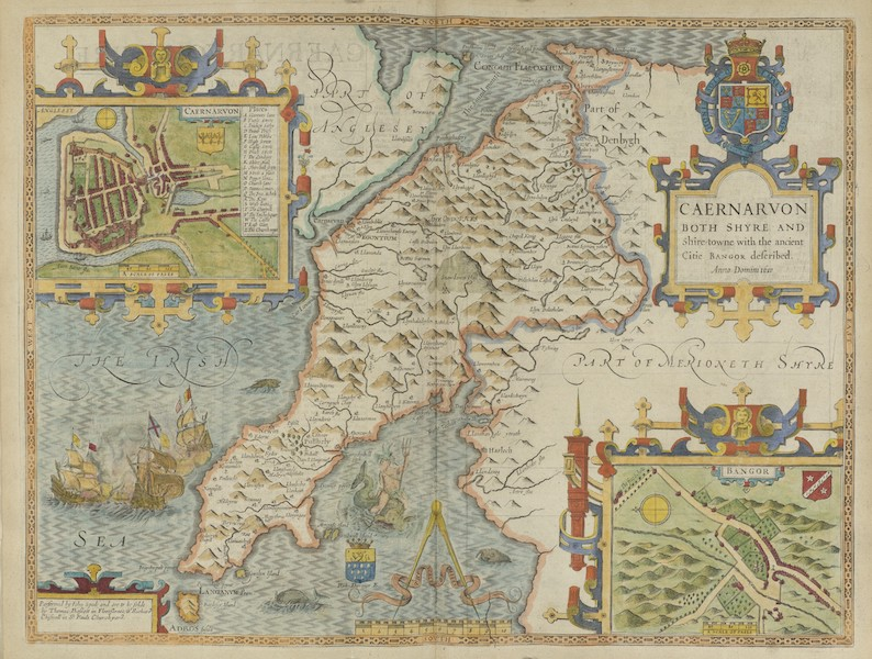 The Theatre of the Empire of Great-Britain - Caernarvon (1676)