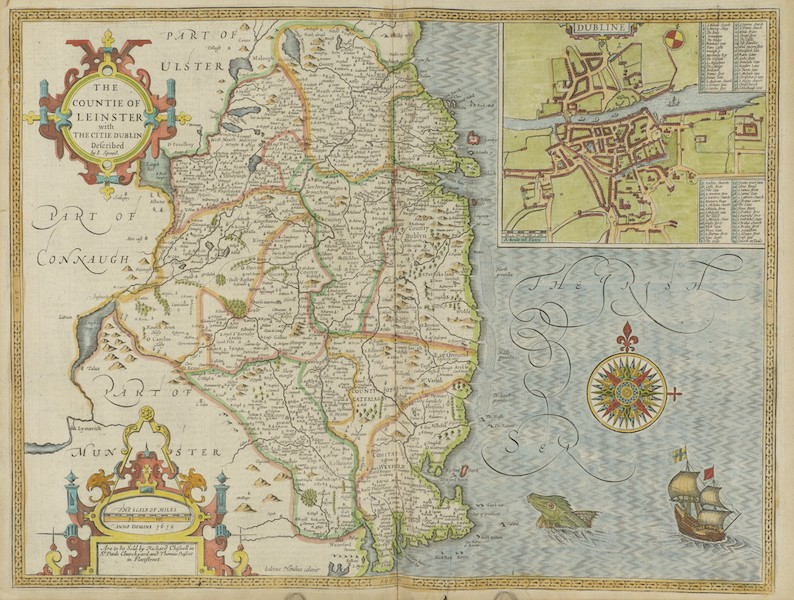 The Theatre of the Empire of Great-Britain - The Countie of Leinster (1676)