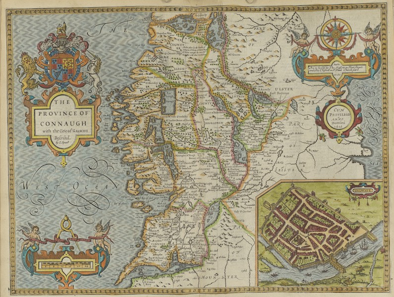The Theatre of the Empire of Great-Britain - The Province of Connaugh (1676)