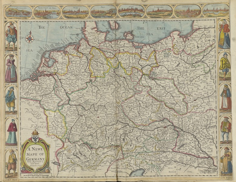 The Theatre of the Empire of Great-Britain - A Newe Mape of Germany (1676)