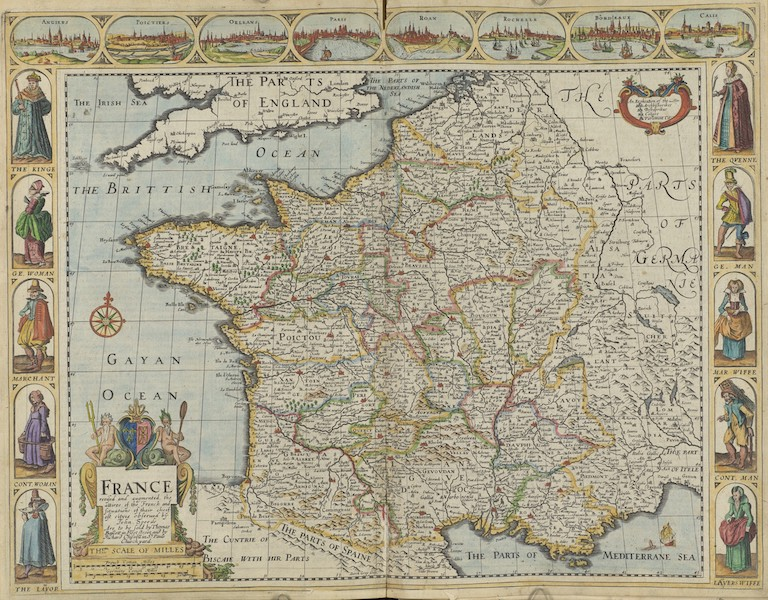 The Theatre of the Empire of Great-Britain - France (1676)