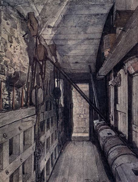 The Tower of London Painted and Described - Top of the Portcullis in Bloody Tower (1908)