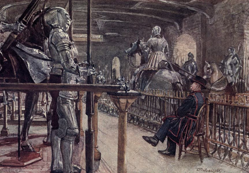 The Tower of London Painted and Described - Portion of the Armoury, White Tower (1908)