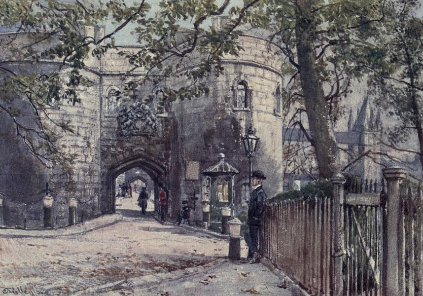 The Tower of London Painted and Described - Middle Tower (West Front) (1908)