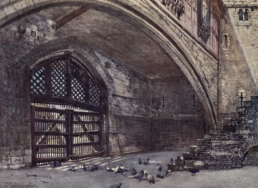 The Tower of London Painted and Described - The Traitor's Gate, from within (1908)