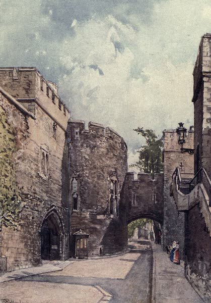 The Tower of London Painted and Described - The Bloody Tower and Jewel House (Wakefield Tower), looking East (1908)