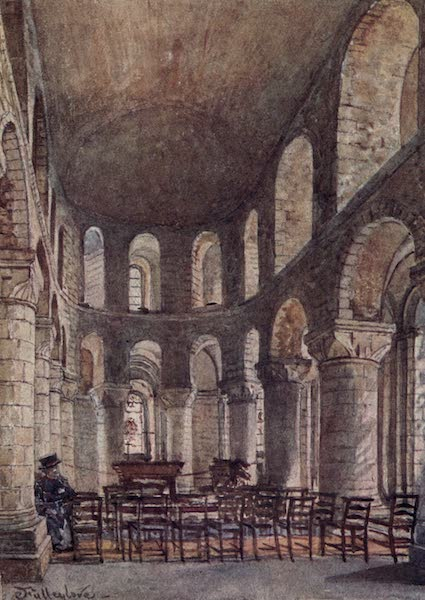 The Tower of London Painted and Described - Interior of St. John's Chapel in the White Tower, looking East (1908)