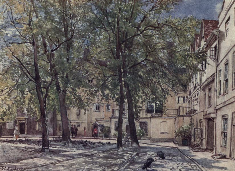 The Tower of London Painted and Described - The King's House from Tower Green (1908)