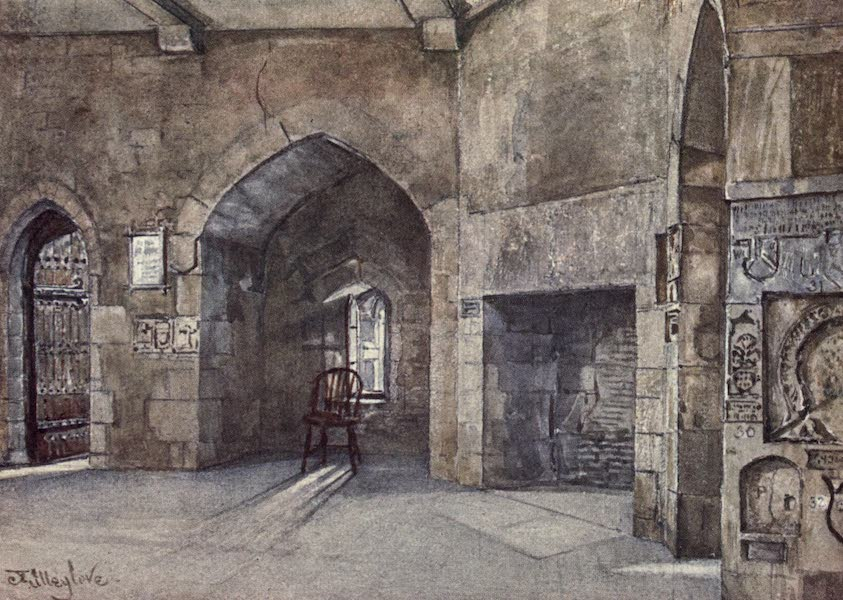 The Tower of London Painted and Described - Principal Room, for State Prisoners, in the Beauchamp Tower (1908)