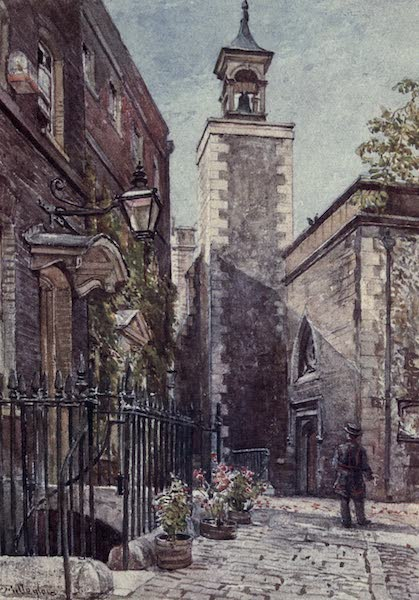 The Tower of London Painted and Described - Chaplain's House, and Entrance to Church of St. Peter ad Vincula, Tower Green (1908)