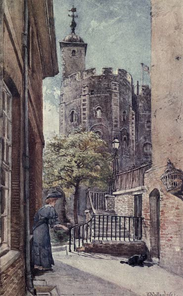 The Tower of London Painted and Described - East End of St. John's Chapel in the White Tower, from Broad Arrow Tower (1908)