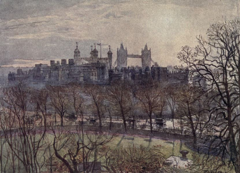 The Tower of London Painted and Described - The Tower from Tower Hill (1908)
