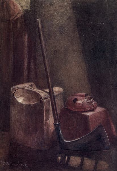 The Tower of London Painted and Described - The Block, Axe, and Executioner's Mask (1908)