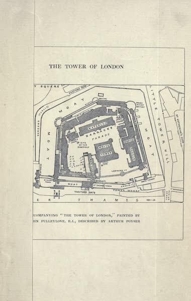 The Tower of London Painted and Described - Sketch Plan of the Tower of London (1908)