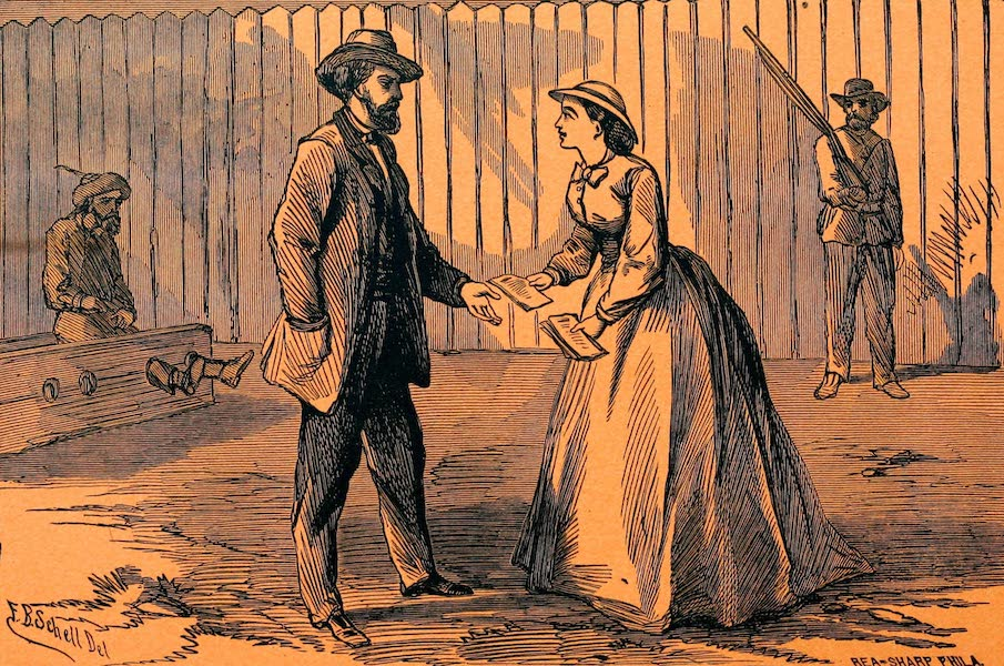 Receiving Religious Tracts From Belle Boyd in the Rebel Stockade at Manassas Junction